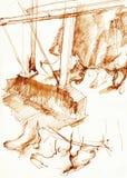 iść na piechotę pianisty s Zdjęcia Stock