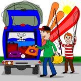 Iść na wakacje ilustracja wektor