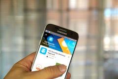 Iść ochrona app Fotografia Stock