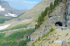 Iść słońce droga w lodowa parku narodowym Fotografia Royalty Free