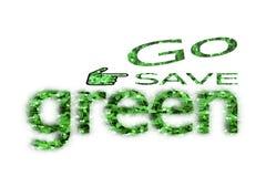 Iść save zieleń dla życia Zdjęcia Royalty Free