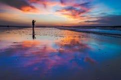 Iść strzału selfie na plaży Fotografia Royalty Free