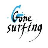 Iść surfingu prezenta karciany projekt ilustracja wektor