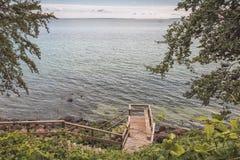 Iść w dół morze Fotografia Stock