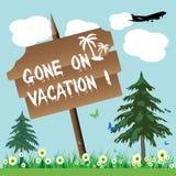 iść wakacje ilustracja wektor