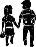 Iść Z powrotem szkoła ucznie ilustracji