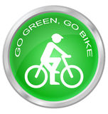 Iść zieleń iść rower Fotografia Stock