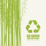 Iść zieleń Przetwarza Zmniejsza Reuse Eco plakata pojęcie ilustracji