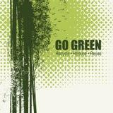 Iść zieleń Przetwarza Zmniejsza Reuse Eco plakata pojęcie ilustracja wektor