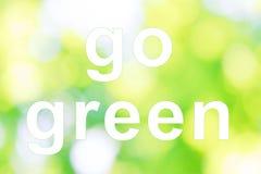 Iść zieleni słowa Obrazy Stock