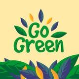 Iść zielona teksta znaka pojęcia ilustracja royalty ilustracja