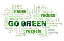 Iść Zielonego eco życzliwy pojęcie Zdjęcie Stock