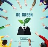 Iść Zielonego Eco ekologii środowiska Naturalny Ziemski pojęcie Fotografia Royalty Free