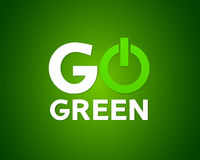 Iść zielonej władzy pojęcie Obrazy Stock