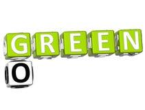 Iść Zielony Crossword ilustracja wektor