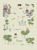 Iść zielony miasta projekt Obraz Royalty Free