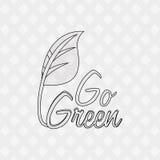 Iść Zielony projekt Zdjęcie Stock