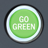 Iść Zielonym - Samochodowy pchnięcie guzika starter Envrionmentalism Obraz Royalty Free