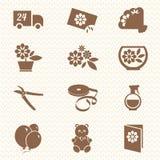 Iсons цветочного магазина Стоковое фото RF