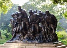 I世界大战,中央公园的战士纽约雕象  免版税库存图片