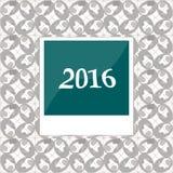 2016 i ögonblickliga fotoramar på abstrakt bakgrund Royaltyfria Bilder