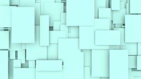 3 i 1 övergångsanimering av rörande rektanglar Sömlös loooped rörelsedesign royaltyfri illustrationer