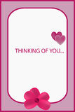 I& x27 η σκέψη μ σας αυξήθηκε ευχετήρια κάρτα απεικόνιση αποθεμάτων