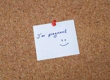 I беременная ` m! Стоковая Фотография