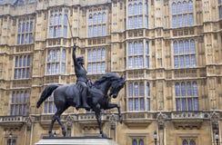 i статуя короля richard Стоковая Фотография RF