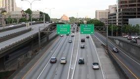 I5南高速公路在西雅图 股票视频