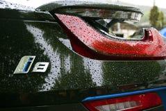 I8在雨下的商标 免版税库存图片