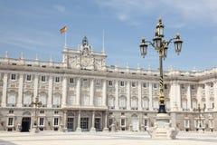 παλάτι της Μαδρίτης βασιλ&i Στοκ εικόνα με δικαίωμα ελεύθερης χρήσης