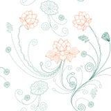 πρότυπο λωτού λουλουδ&i Στοκ εικόνες με δικαίωμα ελεύθερης χρήσης
