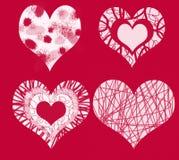 I 4 cuori di amore Fotografia Stock