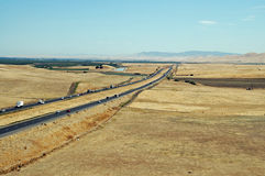 I-5. Interstate 5, Central Valley, California Royalty Free Stock Photo