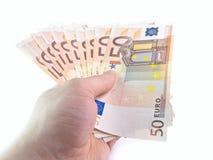 I 50 euro isolati Fotografia Stock