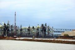 I-70 överbryggar förstörelse Fotografering för Bildbyråer