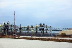 I-70 Bridge Destruction. Bridge destruction  of first Interstate Bridge over the Missouri River at St. Charles, Missouri on December 4, 2012. 3 in sequence of 33 Stock Photos