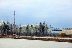 I-70 de Vernietiging van de brug Stock Afbeeldingen