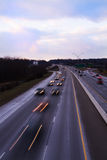 I-75 Knoxville at Dusk. I-75 going into Knoxville at dusk with long exposure Royalty Free Stock Images