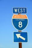 I-8 de um estado a outro Fotos de Stock
