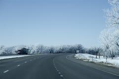 I-80 estrada Nebraska Imagens de Stock