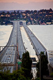 I-90 Bridge Seattle Mercer Island Washington Royalty Free Stock Photography