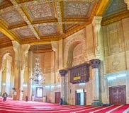 I Abu al-Abbas al-Mursi Mosque Alexandria, Egypten Arkivbilder