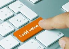 I add value - Inscription on Orange Keyboard Key