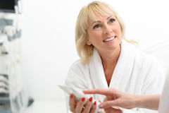 I advise you this cosmetic product Royalty Free Stock Photo