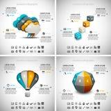 4 i 1 affär Infographics Arkivfoto
