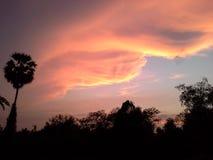 I aftonen av Hadyai Thailand Royaltyfria Bilder
