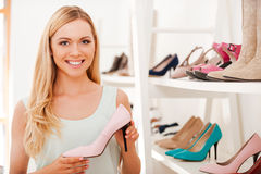 I already love these shoes! Royalty Free Stock Image