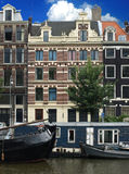 I am Amsterdam. You marry of ámsterdam close to the channels stock photography